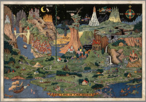 The Land of Make Believe by Jaro Hess. (All photos courtesy of DAVID RUMSEY MAP COLLECTION)